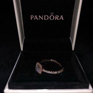 Pandora Ring Size 8 Rose Gold Timeless Elegance